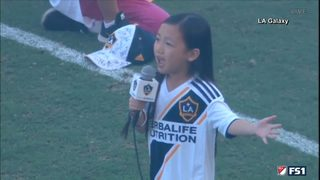 RAW VIDEO: 7-year-old sings national anthem