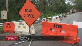 Road shut down indefinitely due to landslide concerns