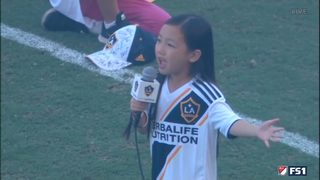 VIDEO: 7-year-old girl sings national anthem
