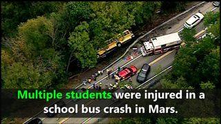 VIDEO: Route 228 school bus crash