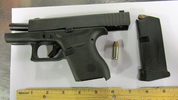 TSA officers at Pittsburgh International Airport prevented a man from bringing this loaded semi-automatic handgun onto an airplane on Saturday, September 29th.