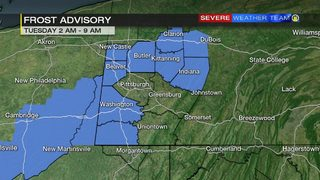Rain moves out tonight, frost advisory for Tuesday morning