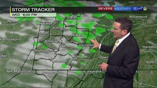 Tracking who will see rain showers Wednesday (10/16/18)