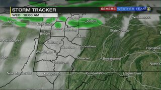 STORM TRACKER: Hour-by-hour timing of rain moving through the area