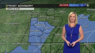 Frost advisory, frost warning issued for much of the area