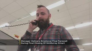 Manager gives emotional farewell during final closing of local Kmart