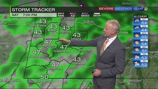 Showers, flurries for your weekend
