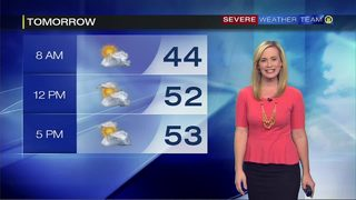 Chilly night in store, though not as cold as the weekend