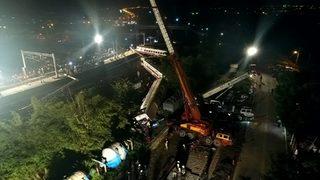 RAW VIDEO: Aftermath of Taiwanese train derailment