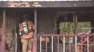 Intense flames consume home in Mt. Pleasant