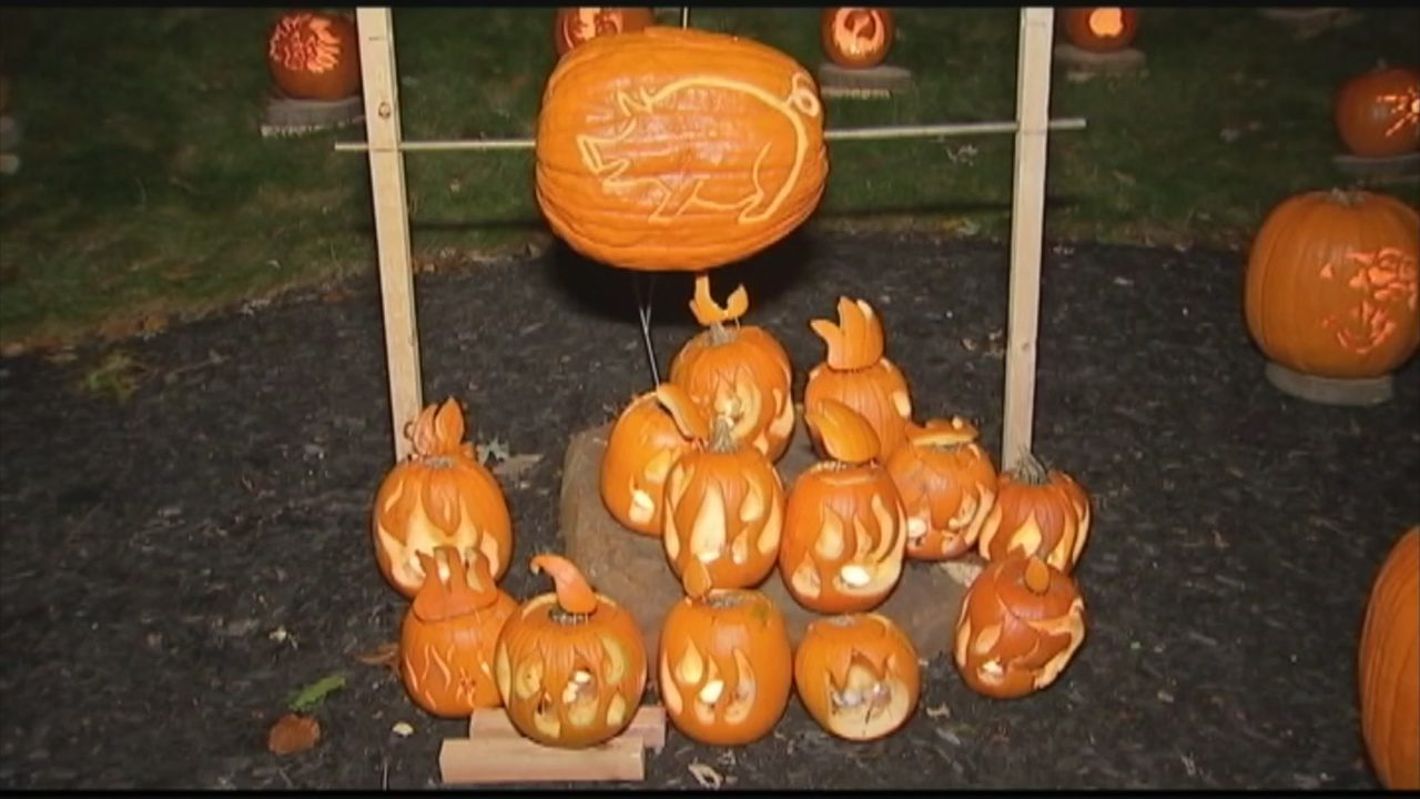 Proud To Be From Pittsburgh Pumpkin Display For Charity Wpxi