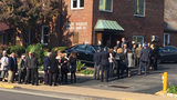 Melvin Wax's funeral in Shadysidel. (Photo by Aaron Martin/WPXI)