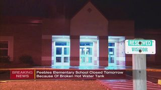 Peebles Elementary School cancels classes Tuesday due to broken hot water tank