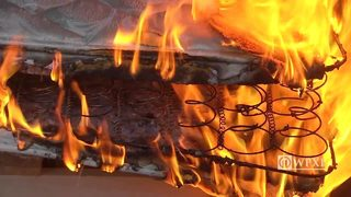 RAW VIDEO: Mattress burn tests