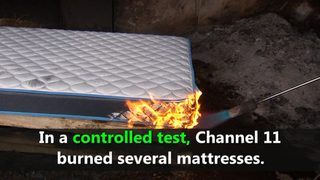 VIDEO: Mattress fire testing