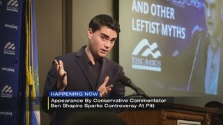 Appearance by conservative commentator Ben Shapiro sparks controversy at Pitt