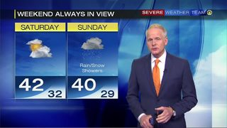 Temperatures in the 40s for this weekend
