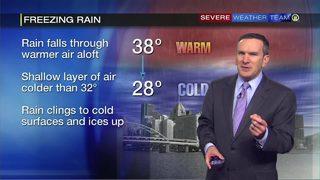 Freezing rain Thursday