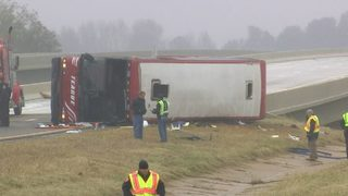 RAW VIDEO: Tour bus crash kills two