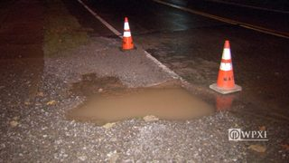RAW VIDEO: Water break in Robinson Township