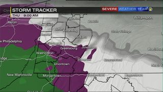 STORM TRACKER: Hour-by-hour timing of wintry mix moving through Pittsburgh area