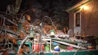 RAW VIDEO: Hampton Township home damaged by falling tree