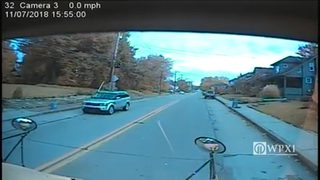 RAW VIDEO: SUV passes stopped school bus in Bridgeville