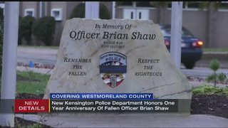 New Ken erects monument on 1-year anniversary of Officer Brian Shaw