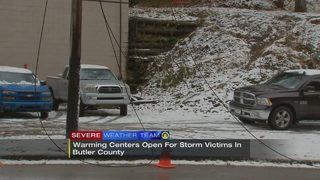 Warming centers open across the area after storm knocks out power to thousands
