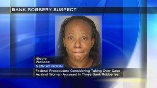 Case against woman accused of helping to rob 3 banks postponed, Feds interested in case