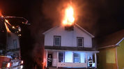 Firefighters work to put out a house fire on Lyndal Street in New Castle. (11/21)