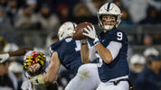 Trace McSorley looks to pass against the Maryland Terrapins during the first half at Beaver Stadium on November 24, 2018 in State College, Pennsylvania. (Photo by Scott Taetsch/Getty Images)