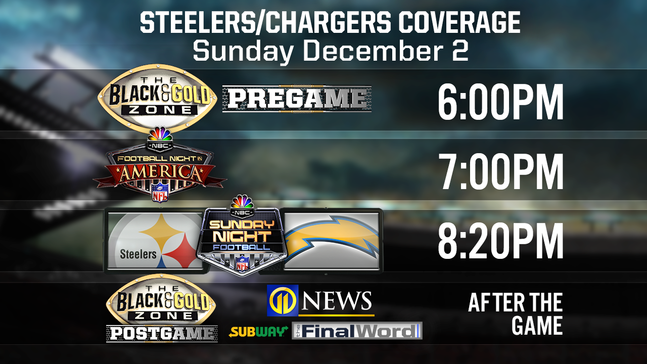 b53599a2c PITTSBURGH STEELERS VS LA CHARGES  What time  how to watch