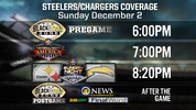 The Pittsburgh Steelers take on the Los Angeles Rams Sunday, Dec. 2 on Sunday Night Football.