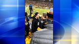 Video of two Pittsburgh Steeler fans fighting goes viral. Video and picture Courtesy @Katebrendel