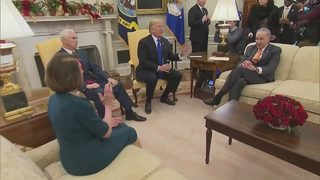 Trump and top Democrats spar in Oval Office showdown