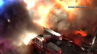 Explosive backdraft caught on video