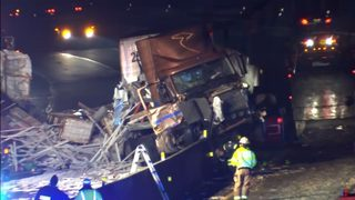 PA TURNPIKE CRASH: Turnpike reopens after tractor-trailers