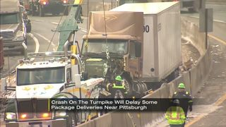 Westbound PA Turnpike closed after tractor-trailers crash, spill 300 gallons of fuel