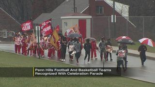 Penn Hills honors football state title, hoops WPIAL title with parade