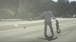 VIDEO: Former cop rescues toddler in street