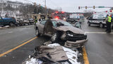 Three people were hurt after a crash on Route 51 in Rostraver Township.