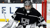 LOS ANGELES, CA - DECEMBER 18: Jonathan Quick #32 of the Los Angeles Kings in goal during a 4-1 win over the Winnipeg Jets at Staples Center on December 18, 2018 in Los Angeles, California. (Photo by Harry How/Getty Images)