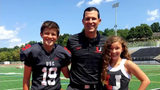 Upper St. Clair football coach Mike Junko and his children Ryan and Bryn. (Photo submitted by Upper St. Clair School District)