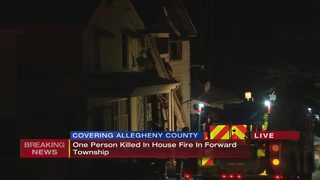 Man killed in fire that damaged 2 homes in Forward Township