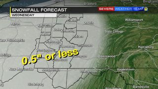First of 3 wintry systems moving in Tuesday night