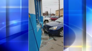 Car crashes into Bloomfield car dealership