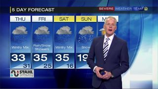 Rain and snow at times into next week
