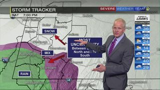 Snow showers end Friday ahead of third, major weather system