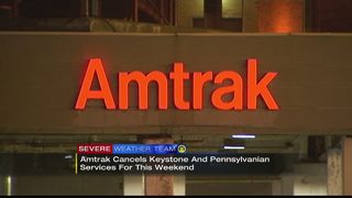 Amtrak cancels some service to Pittsburgh due to weekend snowstorm